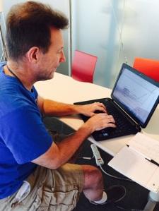 Me typing