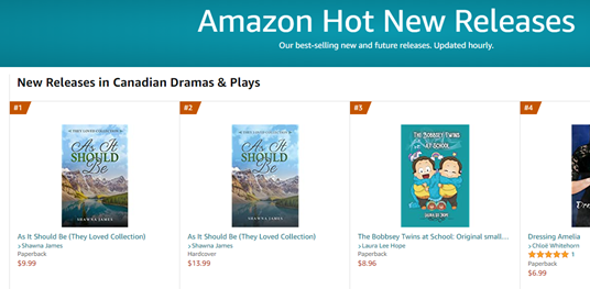Amazon #1 and #2 New ReleaseJAMES